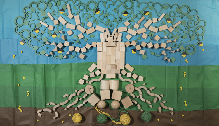 tree made of froebel gifts